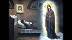 The apprearence of the Most Holy Theotokos in front of Saint Seraphim of Sarov Russian Icons, Orthodox Christianity, Religious Art, Holi, Saints, Religion, Gallery, Illustration, Pictures