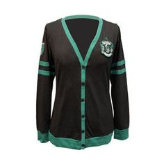 Harry Potter Slytherin Junior's Cardigan | When I discovered I was a Slytherin, I was surprised. Then I was ecstatic -- so much more merchandise options!