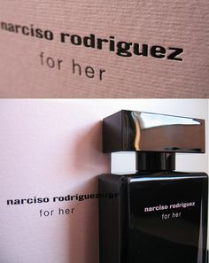 Narciso Rodriguez For Her | A modern classic, for her seduces with purity, grace and subtlety. Musk, the heart of the scent, is refined by a synthesis of floral notes and hints of soft amber. Sensual and addictive, for her is femininity at its most powerful.