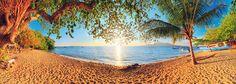 Sunrise sunset vakantie strand