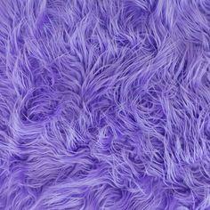 Mongolian Faux Fur Fabric Lavender  1 Yard