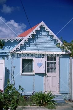 "Caribbean, St. Barts, St. Barthelemy, village of Corossol, typical ""case"", house —"
