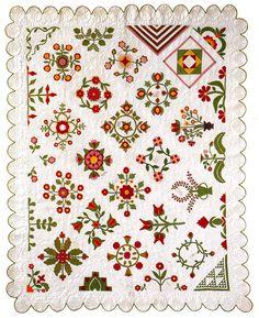 Friendship Ambum Quilt, 1853-1856, cotton, James Collection