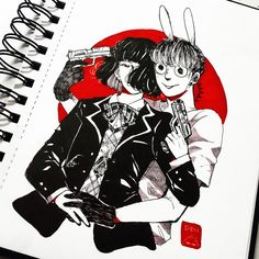 """Best killer couple ever killer JK au is originally from @jung_kkuu #KillerJK #yoonkook"""