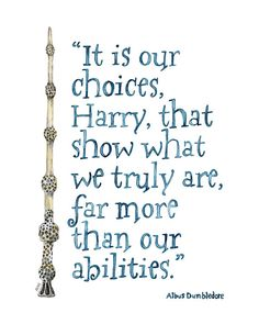 Harry Potter Quote Painting - Print from Original Watercolor Painting…