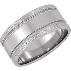 8.5mm Hand Engraved Band |Call (925)274 1444 or www.jewelplus.com