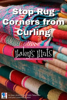 Stop Rug Corners from Curling. Don't get tripped up over the curled corners of throw rugs, here's a simple and effective solution for keeping rug corners down.