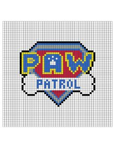 Perler Bead Pixel Art and Gaming! Perler Beads, Perler Bead Art, Hama Beads Patterns, Beading Patterns, Paw Patrol, Cross Stitch Designs, Cross Stitch Patterns, Modele Pixel Art, Perler Bead Disney