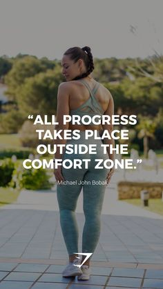 """""""All progress takes place outside the comfort zone. Save this to your board for a happy reminder! Gym Motivation Quotes, Gym Quote, Fitness Motivation, Body Inspiration, Fitness Inspiration, Inspiration Quotes, Wellness Fitness, Health Fitness, Fitness Memes"""