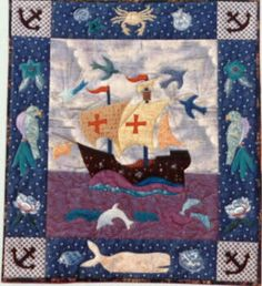 """Journey of Faith ~ 22""""x28"""" Wall Quilt (2 Sizes for 12"""" or 18"""" Block Included)"""