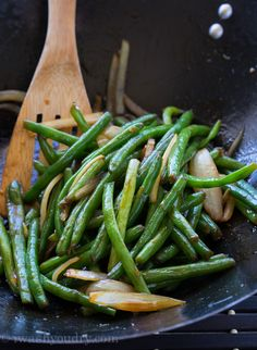 Sweet and Spicy Green Beans by iwashyoudry #Green_Beans #Sweet #Spicy