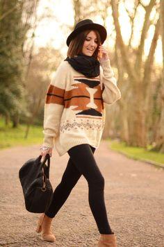 College Fashionista Style Guru Big Sweaters Fall Style