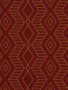 Red Geometric Fabric  Modern Red Upholstery by greenapplefabrics, $39.00
