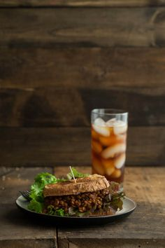 Vegan Lentil Sloppy Joes (one of those guaranteed to fall on you things but probably tasty)