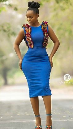 Blue African Dress for women/ Ankara Short Dress/ African Print/ Dashiki Cape Dress/ Prom Dress/ Casual Dress/ Summer Dress/Kitenge/ Kente Latest African Fashion Dresses, African Dresses For Women, African Print Dresses, African Print Fashion, African Attire, African Wear, African Women, African Beauty, African Prints