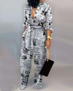 IVRose | Women's Clothing, Jumpsuits, Jumpsuits $31.99 Trend Fashion, Look Fashion, Gothic Fashion, Fashion Beauty, Rompers Women, Jumpsuits For Women, Fashion Jumpsuits, Mode Outfits, Fashion Outfits