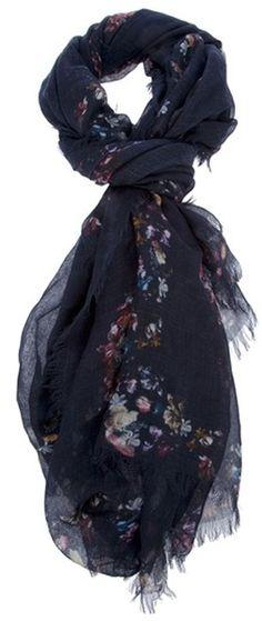 ALEXANDER MCQUEEN Floral Skull Scarf - Lyst