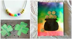 Achievable St Patricks Day crafts for 3 year olds - fun activities that kids have really done themselves including leprechauns, rainbows and shamrocks Arts And Crafts Storage, Arts And Crafts House, Easy Arts And Crafts, Crafts To Make, Diy Crafts For School, Crafts For 3 Year Olds, St Patrick's Day Crafts, Sand Crafts, Clay Crafts