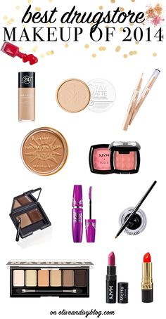 The best drugstore makeup of 2014! #makeup #beauty