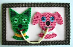 Dear dogs - dog perler picture - great blog with hints on working with perler beads - Perler Bead jewelry - Fuse bead designs - Perler Bead - Perler bead art - #perlerbead