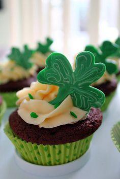 Irish Car Bomb Shamrock Cupcakes