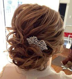bridal hair - medium length