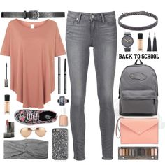 The First Day Of School by truthjc on Polyvore featuring Topshop, Paige Denim…