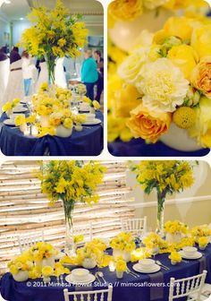 2001 Vintage Hotels Wedding Show - Mimosa Flowers Booth Display Love Flowers, Yellow Flowers, Wedding Flowers, Wedding Show, Hotel Wedding, Wedding Bride, Vintage Hotels, Wedding Decorations, Table Decorations