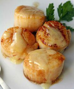 Seared Sea Scallops In Saffron Sauce Recipe...