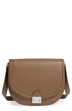 LOEFFLER RANDALL 'Large' Leather Saddle Bag. #loefflerrandall #bags #shoulder bags #leather #lining