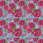 VintageFloral-vf by nikkibutlerdesign, click to purchase fabric