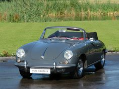 1962 PORSCHE 356 B Twin Grille Cabriolet Slate Grey with Red Hide
