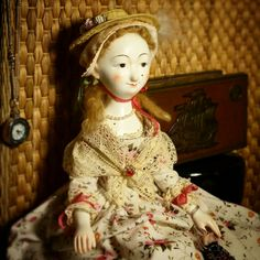 Деревянная кукла Елены Данильченко.