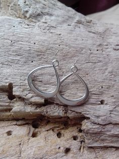 Large Silver Infinity 8 Earrings Hanging by BohoBeachJewelry Bohemian Beach, Modern Bohemian, Beach Jewelry, Unique Jewelry, Bold Colors, Dangle Earrings, Infinity, Dangles, Delicate