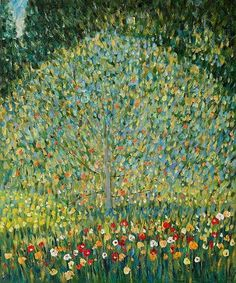 "Gustav Klimt (1862-1918) :"" Apple Tree I "" ,1912 , Restituted , in 2006 , to Maria Altmann , heir of Ferdinand Bloch-Bauer from Belvedere Museum and sold at Christie's for 33 Million $ ,in November 2006 ."