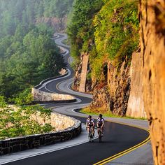 Curves minus the bicyclists and add a 65 ford Mustang and you get the best picture and (road trip) ever!