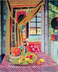 Henri Matisse, Interior with Phonograph, 1924. (Fauvism)