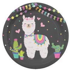 Shop Cute Fiesta Llama Baby Girl Birthday Party Decor Paper Plate created by BlueBunnyStudio. Llama Birthday, Baby Girl 1st Birthday, Girl Birthday Themes, 6th Birthday Parties, Birthday Party Decorations, Turtle Birthday, Turtle Party, Carnival Birthday, 10th Birthday