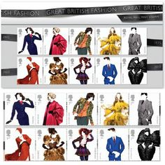 Royal Mail Stamps- Great British Fashion Presentation Pack