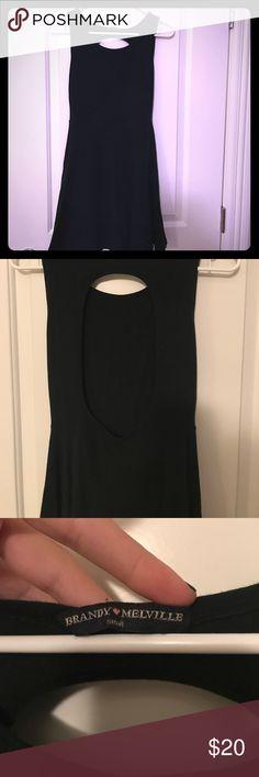 Brandy Melville black dress- open back Brandy Melville black dress- open back. Adorable dress! Great condition. Brandy Melville Dresses Mini