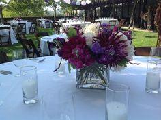 Purple & White centerpiece ideas