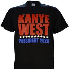 Kanye West for President 2020 on Black Short Sleeve T Shirt