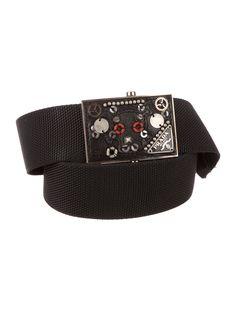 Prada Embellished Logo Belt