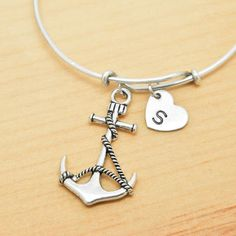 A personal favorite from my Etsy shop https://www.etsy.com/ca/listing/219570889/anchor-bangle-sterling-silver-bangle