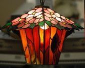 Flowering Tree Stained Glass Lantern. $425.00.