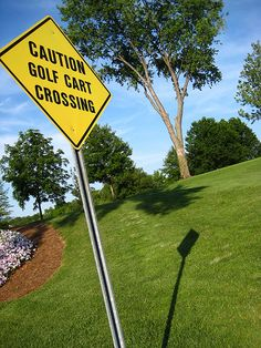 Greenbriar Caution Golf Cart Crossing by lolololori, via Flickr