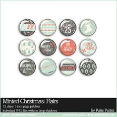 Minted Christmas: Flairs By Katie Pertiet at Designer Digitals