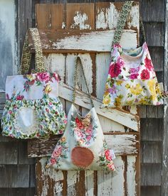 Beautiful granny chic~I bought the bag on the right with pink and yellow roses!  I love Blondie Blu!  I own another bag and will purchase more in the future!