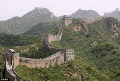 The Great Wall of China [Source: Daily Mail] -- #GreatWall #walls #China #Asia #Orient #FarEast #Architecture