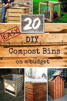 These are some great DIY compost bin ideas for the garden and backyard for anyon… - Easy Diy Garden Projects Diy Garden Projects, Outdoor Projects, Allotment Ideas Budget, Garden Compost, Diy Compost Bin, Outdoor Compost Bin, Garden Insects, Diy On A Budget, Looks Cool